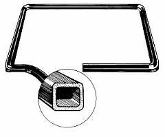VW TYPE 3 ENGINE COMPARTMENT LID SEAL 1962-1974 SQUAREBACK