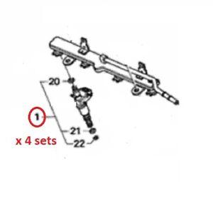OEM Honda K20 K24 Fuel Injector O-ring Set of 12 for All