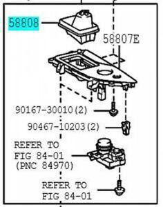 TOYOTA 58808-30240-C2 Shifting Hole Cover SUB ASSY Genuine