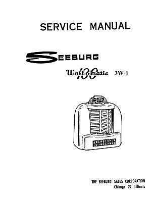 Seeburg Wall-O-Matic 3W1, 100, 200 Wallbox Operating or