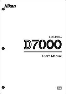Nikon D7000 User Manual Guide Instruction Operator Manual