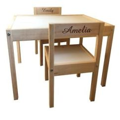 Ikea Childrens Chair 2 Folding Mattress Foam Personalised Kids Table And Chairs Names Ebay Image Is Loading