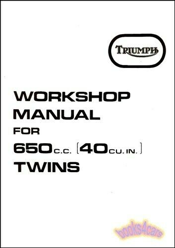 TRIUMPH 650 SHOP MANUAL SERVICE REPAIR BOOK WORKSHOP GUIDE
