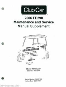 2006 Club Car FE290 Gasoline Service Manual Supplement
