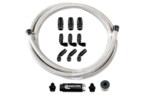 FiTech's Stainless Steel Fuel Hose Kit w/ Fittings and