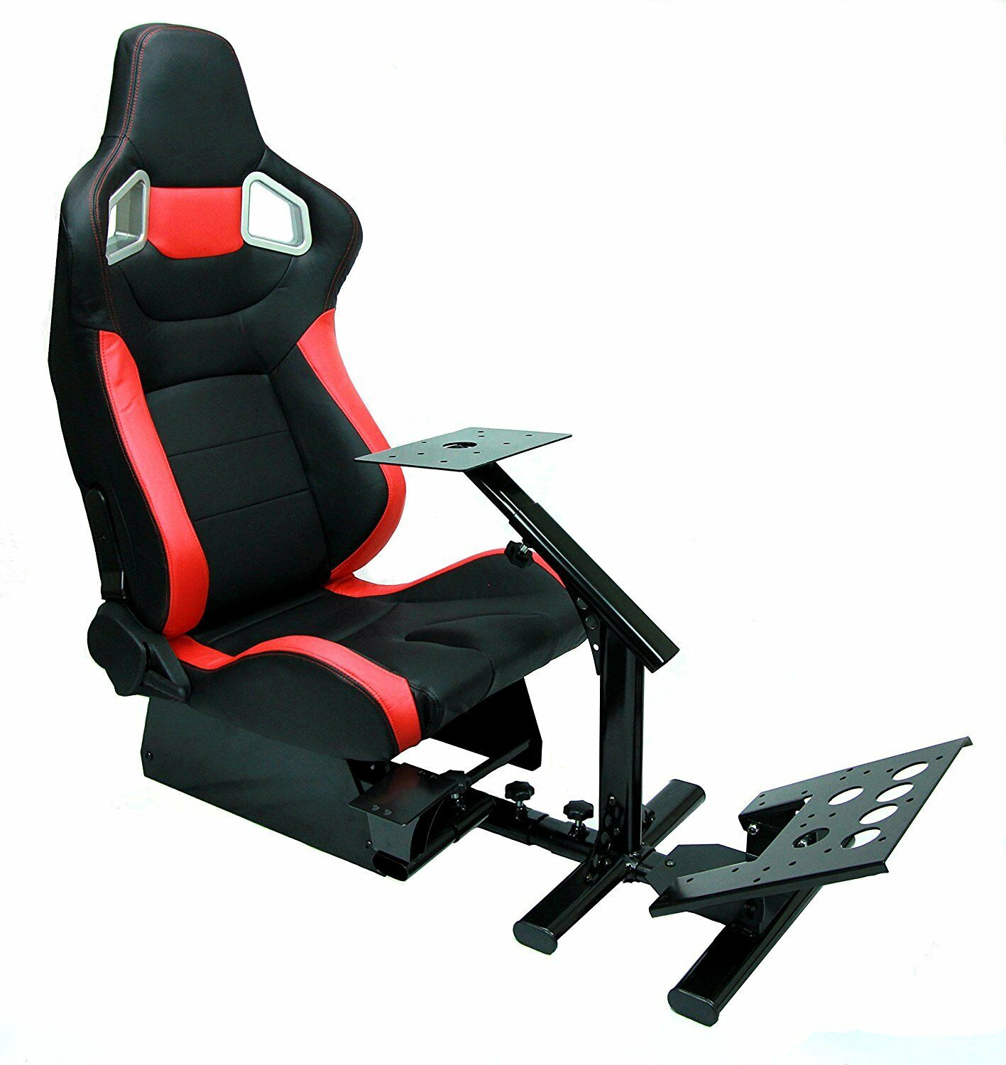 Racing Simulator Cockpit w Gear Shifter Mount For PS4