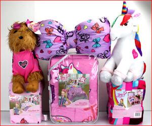 details about 4 8 pc jojo siwa comforter sheet set blanket unicorn dog bow pillow