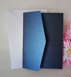 Pocket Fold Wedding Invitation Cards Envelope Pocketfold