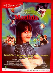 details about matilda 1996 danny devito rhea perlman serbian mara wilson unique movie poster