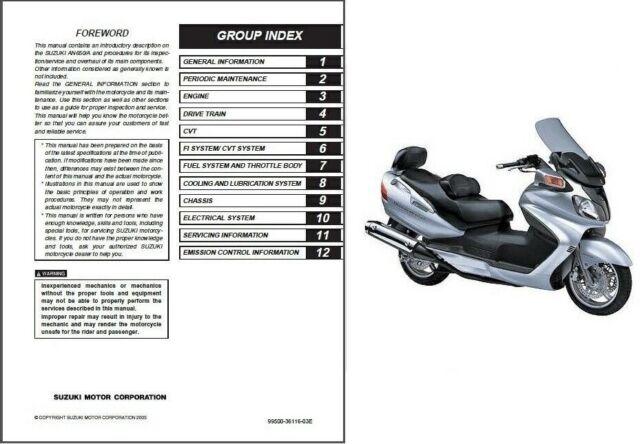 2003-2015 Suzuki Burgman AN650 / AN650A Executive Service