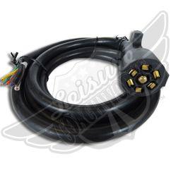 leisure cord rv standard universal 7 way trailer wiring harness 8 ft 7 way for sale online ebay [ 1600 x 1600 Pixel ]