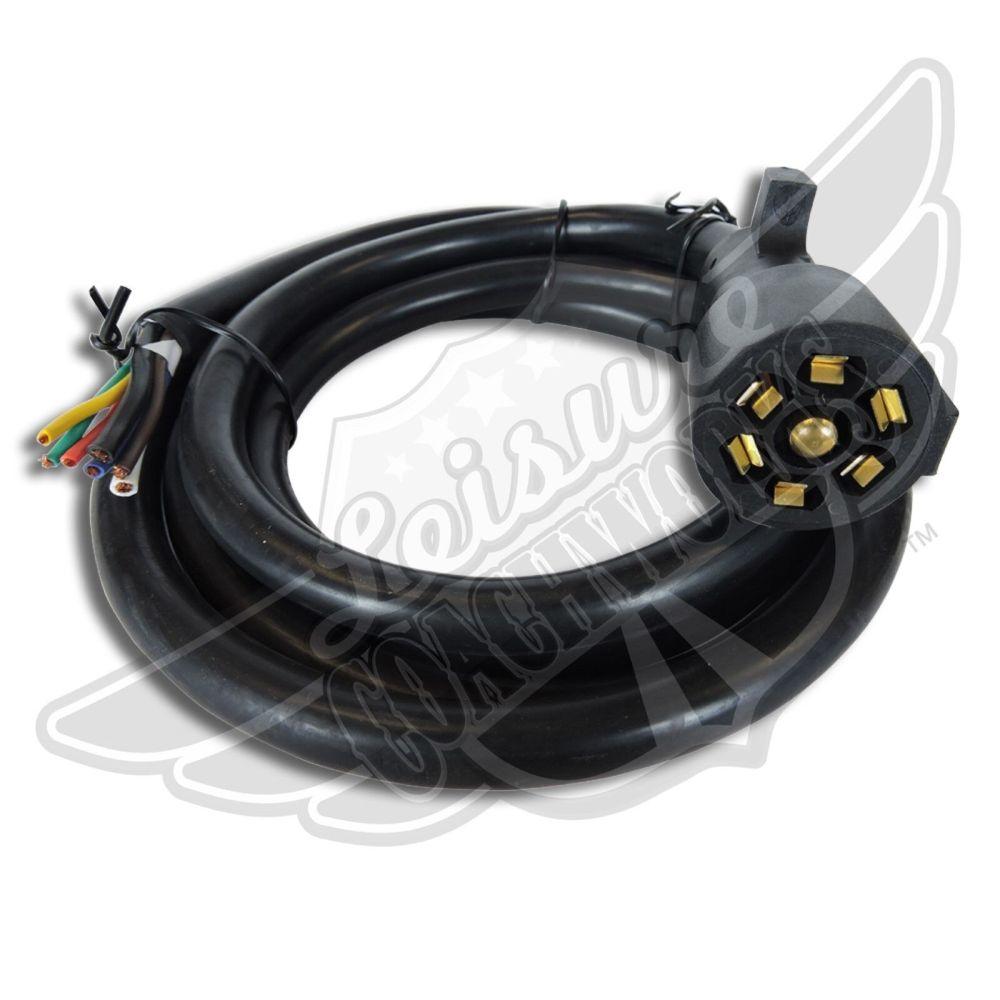 medium resolution of leisure cord rv standard universal 7 way trailer wiring harness 8 ft 7 way for sale online ebay