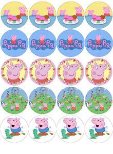 CUP CAKE cerchio SU MISURA per compleanno PEPPA PIG Party