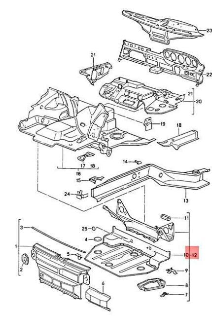 Genuine PORSCHE 911 Carrera 2 4 Spare Wheel Well Primed