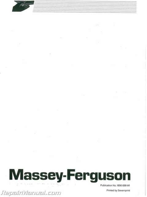 Massey Ferguson MF350-MF399 Dsl Tractor Operators Manual