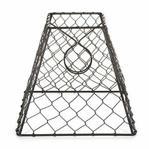 Darice Clip-On Chicken Wire Lamp Shade: Square, Black, 8 x