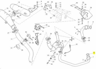 Ducati OEM Replacement Exhaust Pipe Gasket 79010261A