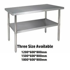 Kitchen Work Tables Commercial Ventilation Stainless Steel Bench Catering Table Shelf Image Is Loading