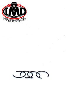 TRIUMPH 500 T100 PISTON CIRCLIPS (4) NEW WRIST PIN TROPHY