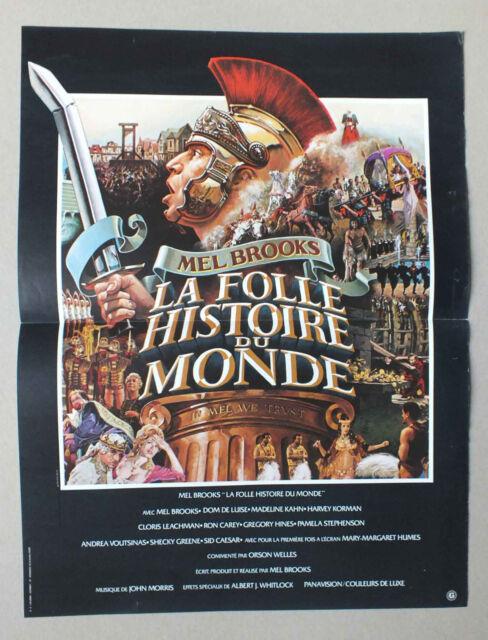 La Folle Histoire Du Monde : folle, histoire, monde, AFFICHETTE, CINEMA, FOLLE, HISTOIRE, MONDE, BROOKS