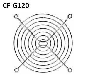 Chrome Metal Fan Guard/Grill for 120mm (4.72 inch) CPU Fan