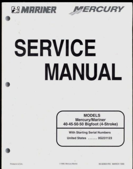 MERCURY OUTBOARDS 40 45 50 50 BIGFOOT SERVICE MANUAL // 4