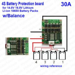 4s Bms Wiring Diagram Genset 30a 14 8v Li Ion Lithium 18650 Battery Pcb Protection Board Image Is Loading