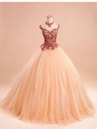 Hot Appliques Embroidery Quinceanera Dresses Prom Party ...