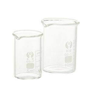 5/10ml Borosilicate Glass Lab Beaker Laboratory Chemical