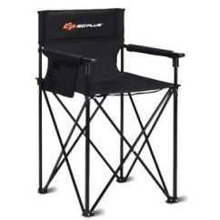 High Folding Chair Hanging Flipkart Portable 38 Oversized Camping Fishing W Carry Details About Bag Black