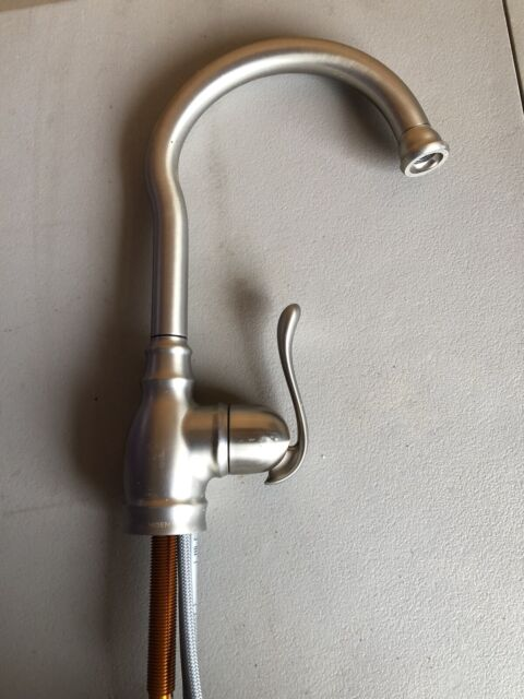 moen anabelle stainless 1 handle high arc kitchen faucet 87682srs