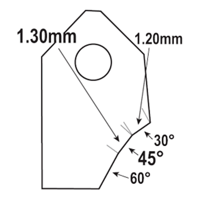 Sonstige 45°-1.30mm.Valve seat cutting carbide tip bit