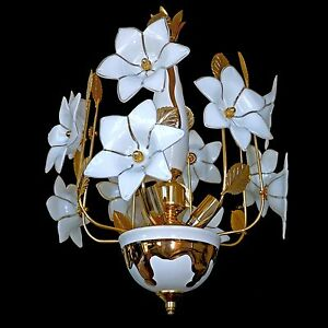 Image Is Loading Vintage 60s Italian Murano Venini Art Glass Flower