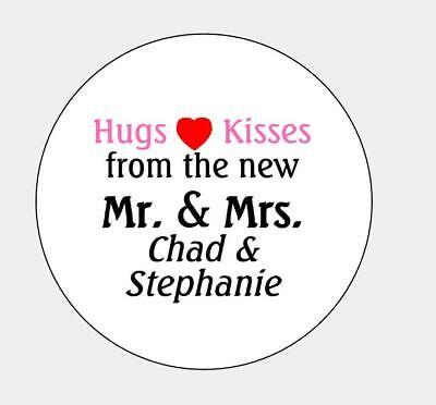 Personalized Hugs/Kisses Mr. & Mrs. Wedding Hershey Kiss