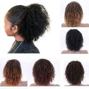 African American Wigs For Women Natural Hair Clip Hair Drawstring