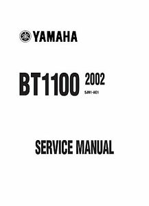 Yamaha BT1100 Bulldog 2002 Service Repair Manual Free