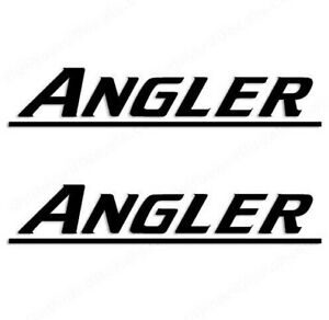 Angler Boat Yacht Decals 2PC Set Vinyl High Quality New