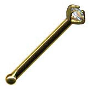 ECHT GOLD 750 & 585 mit PERLE DIAMANT Nasenstecker Nase Gelbgold Nasenpiercing