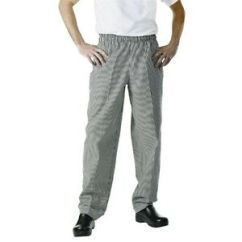 Kitchen Pants Island Stainless Steel Top Easyfit Black Checker 2xl Catering Restaurant Trousers Image Is Loading