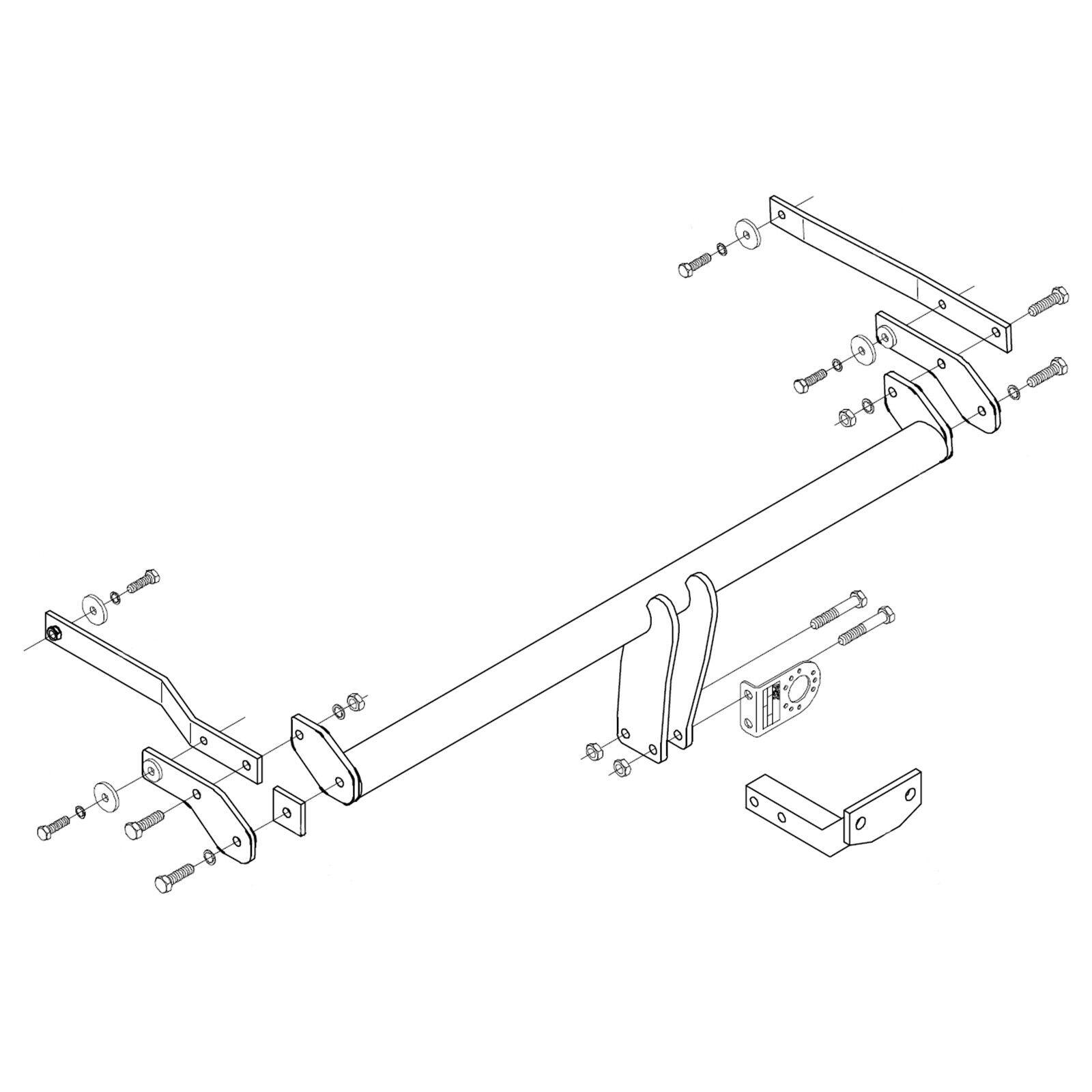 hight resolution of details about towbar for renault megane iii 5 door hatchback 2008 2016 flange tow bar