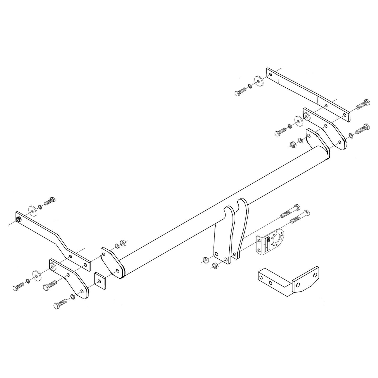 small resolution of details about towbar for renault megane iii 5 door hatchback 2008 2016 flange tow bar
