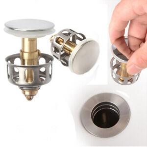 details about 2pcs 1 38 wash basin bounce drain filter pop up bathroom sink drain stopper us