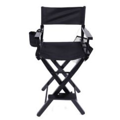 Tall Director Chair Lime Green Dining Chairs New Directors 30 Inch Canvas Seat Black Wood Folding Hair Image Is Loading