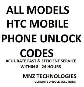 ALL HTC UNLOCK CODES~ALL MODELS~ASK US IF OTHERS FAILED TO
