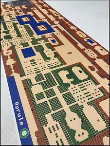 """Legend Of Zelda Map Nes : legend, zelda, Legend, Zelda, Original, Nintendo, 8-bit, Canvas, Hyrule, 54"""", Wide!"""