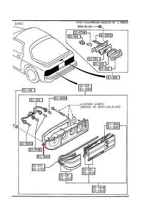 Mazda RX-7 1986-1992 New OEM rear tail light gasket FB01