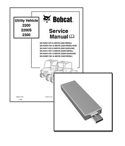 Bobcat 2200 S 2300 Workshop Repair Service Manual USB
