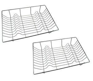2 x Metal Chrome Wire Dish Rack Kitchen Sink Drainer