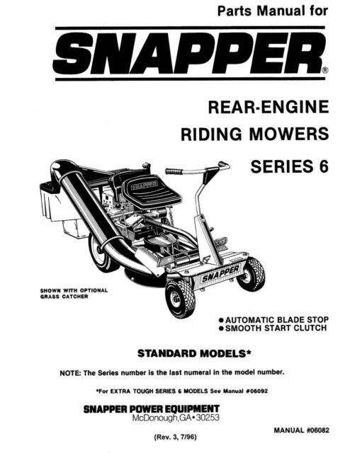 Ariens 911 series Lawn Mower Repair Manual 1987 for sale