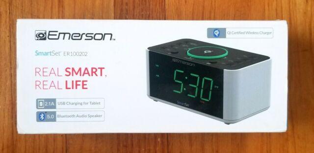 Emerson Alarm Clock Radio And Qi